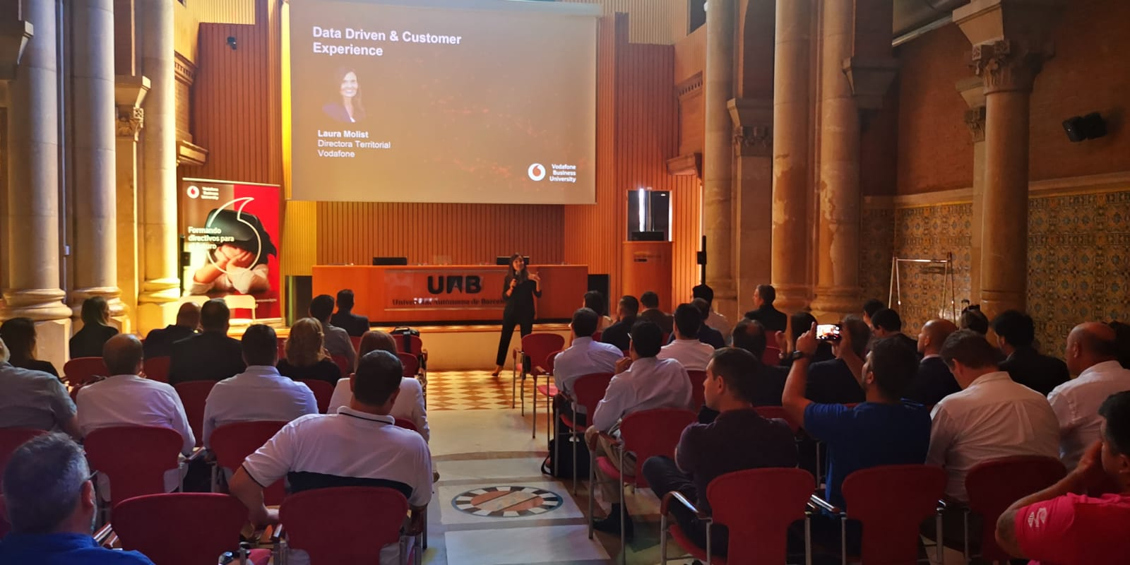 Sesión Vodafone Business University en Barcelona sobre Data Driven & Customer Experience